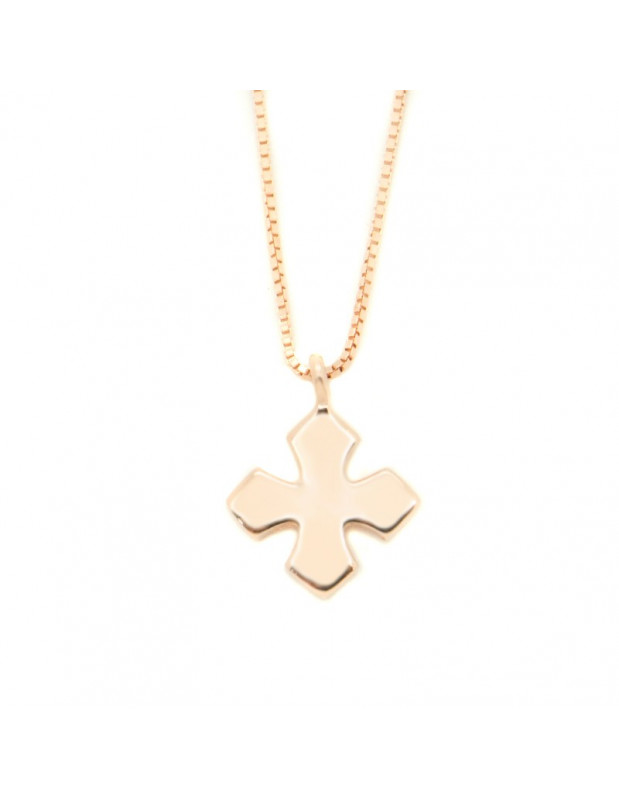 Cross Necklace of sterling silver rose gold FELITA