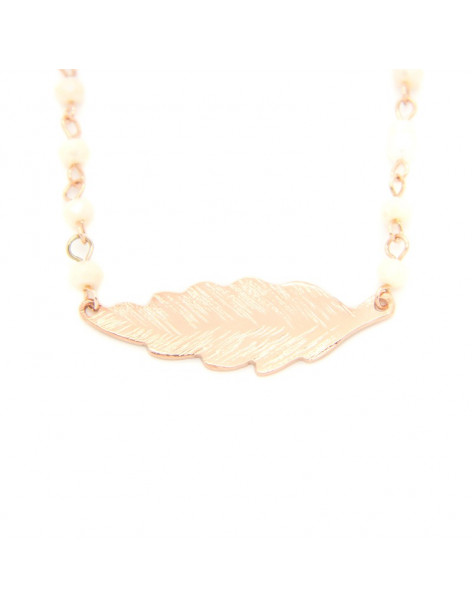 Necklace with white crystals BLATO