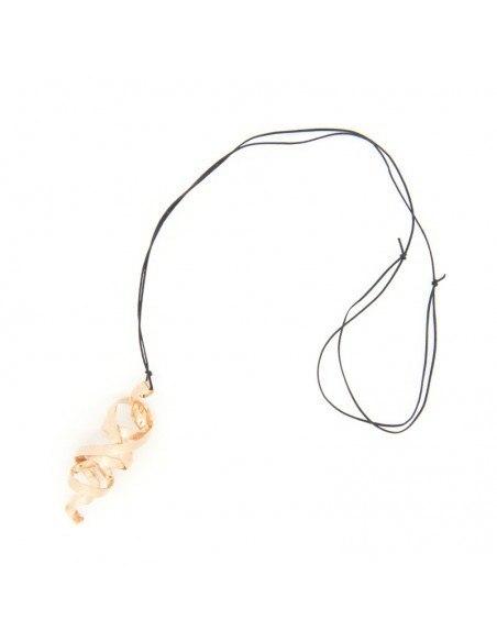 Leder Halskette mit Bronze Anhänger rosegold HIAP 3
