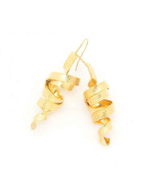 Earrings of bronze handmade gold HIAP