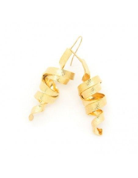 Σκουλαρίκια αρχαιοελληνικά από μπρούτζο χρυσό χειροποίητο HIAP