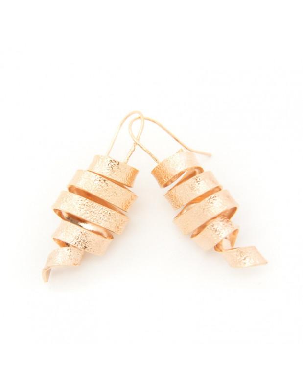 Σκουλαρίκια αρχαιοελληνικά από ροζ χρυσό μπρούτζο HIAP O20140785