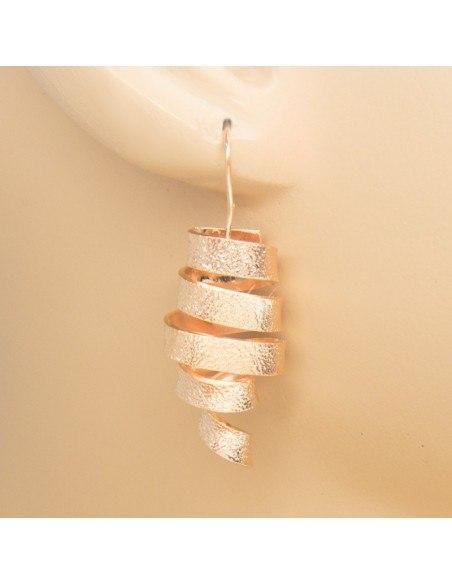 Ohrringe aus rosévergoldeter Bronze HIAP O20140785