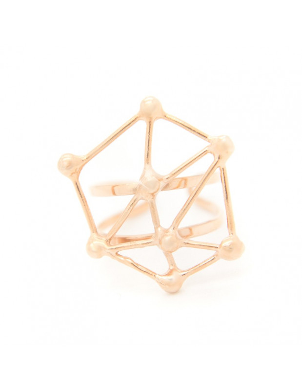 Δαχτυλίδι από μπρούτζο ροζ χρυσό SPIN