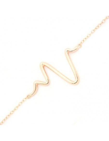 Silver bracelet rose gold plated PULSE