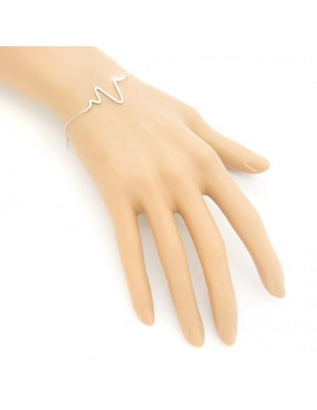 """Silver bracelet """"PULSE"""" A20140811"""