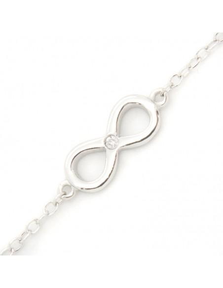 Silver bracelet with zirconia stone INFINITY
