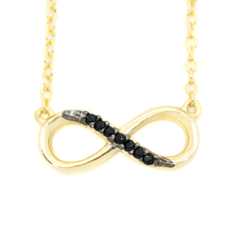 Necklace With Infinity Symbol From Gold Plated Silver H20140877