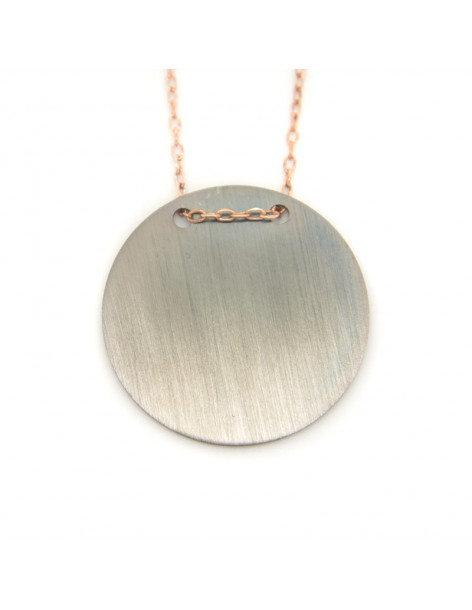 Necklace sterling silver rose gold TERY