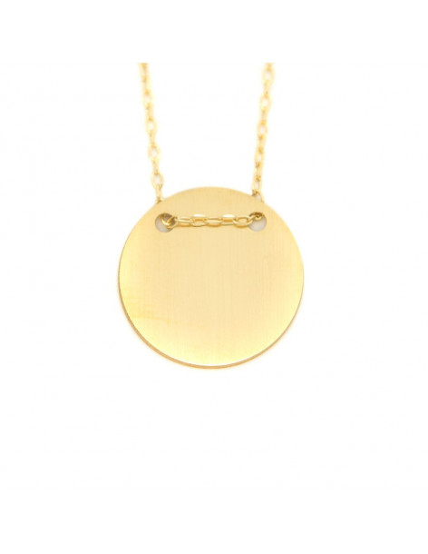 """Necklace sterling silver in matt gold """"ROUND"""" H20140906"""