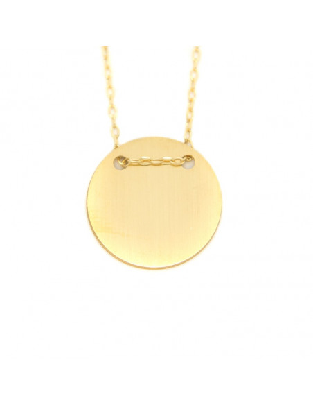 """Κολιέ ασημένιο """"ΚΥΚΛΟΣ"""" σε μάτ χρυσό H20140906"""