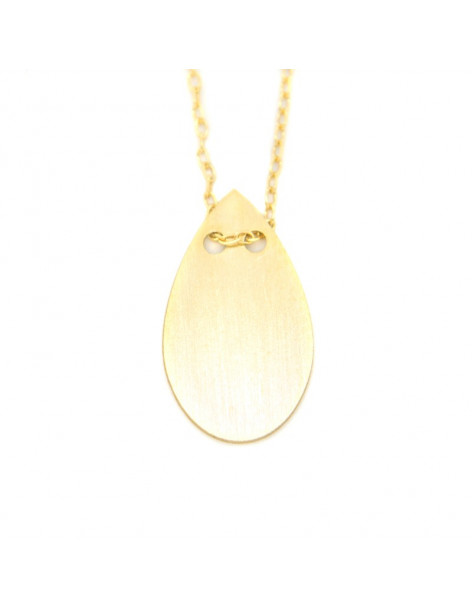 Necklace of sterling silver minimal gold plated OREY