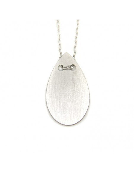 Necklace of sterling silver minimal OREY