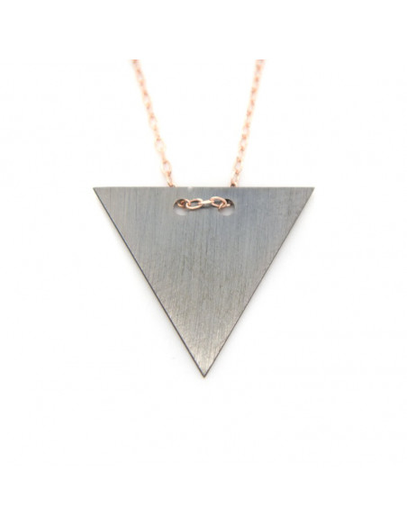 Necklace of sterling silver minimal rose gold FERO