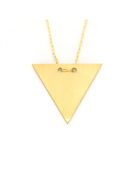 "Necklace sterling silver in matt gold ""TRIANGLE"" H20140914"