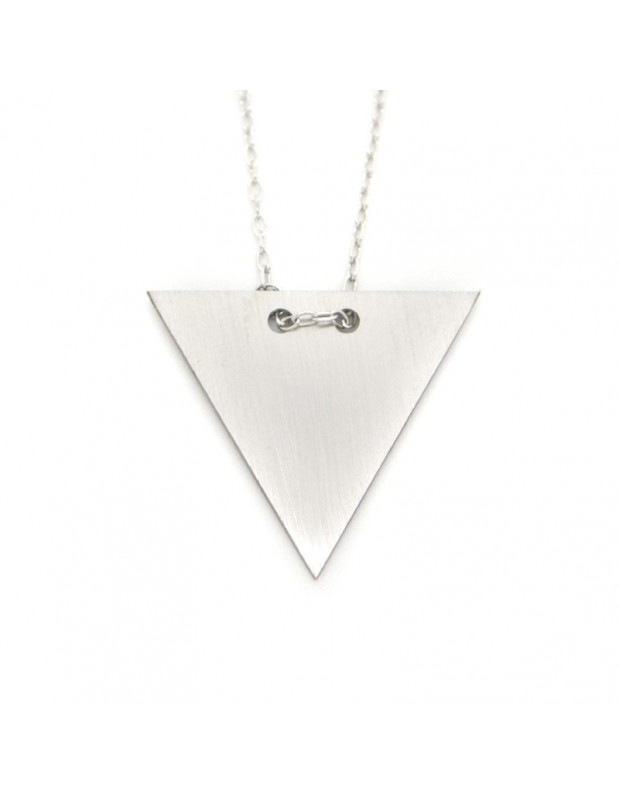 Necklace sterling silver minimal FERO