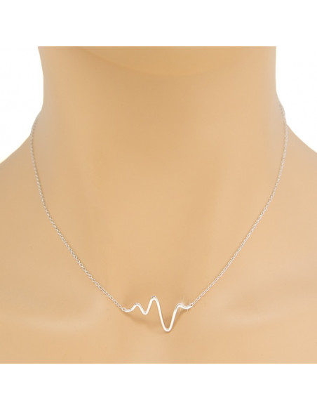 """Necklace """"PULSE"""" from sterling silver H20140919"""
