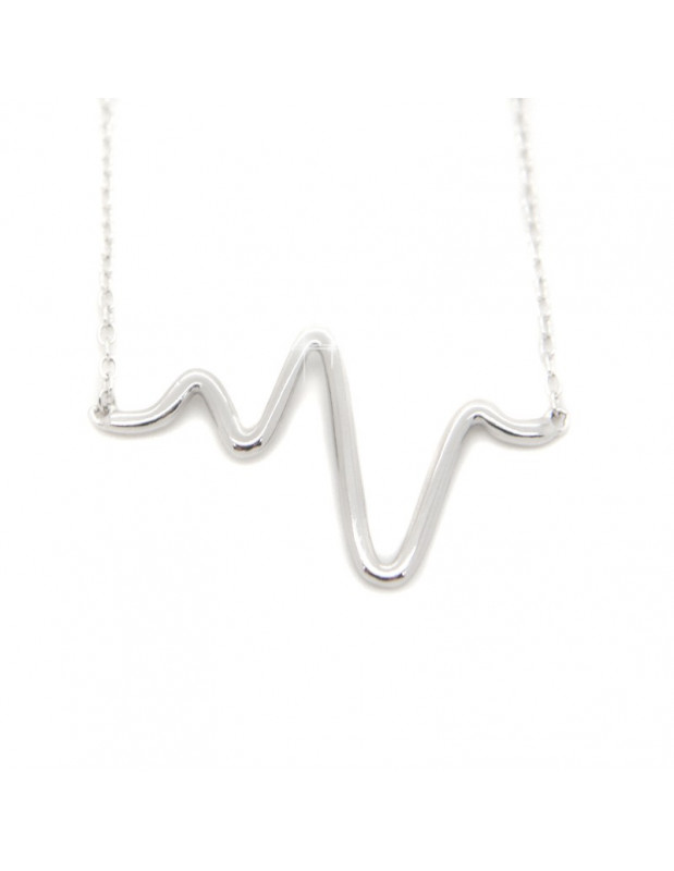 "Necklace ""PULSE"" from sterling silver H20140919"