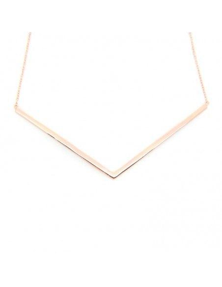Κολιέ από ασήμι 925 minimal ροζ χρυσό VECTOR