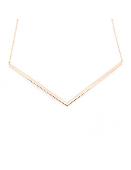 Necklace of sterling silver minimal rose gold VECTOR