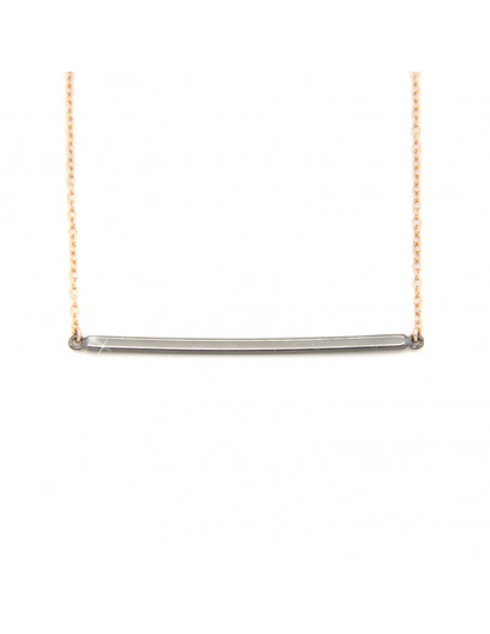 Necklace of 925 silver minimal rose gold JUNI