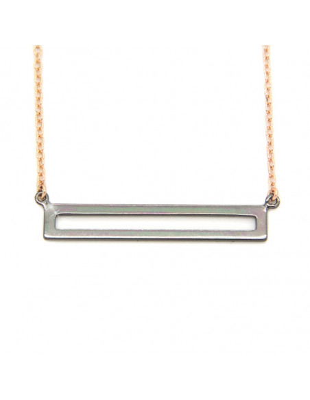 Necklace of sterling silver minimal rose gold AUGUST