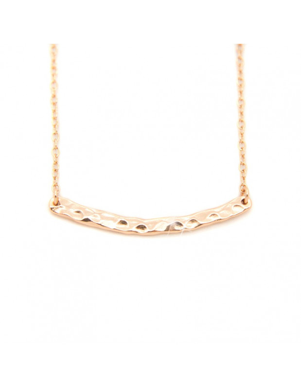 Silver Necklace rose gold SIMPLE