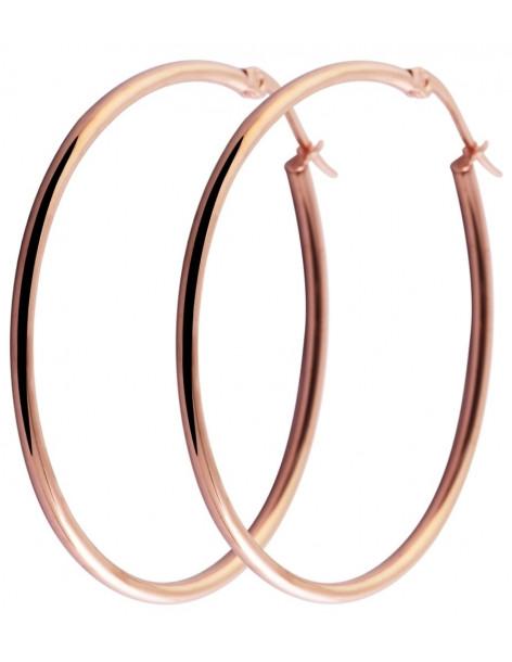 Σκουλαρίκια κρίκοι ροζ χρυσό 28mm O20140800