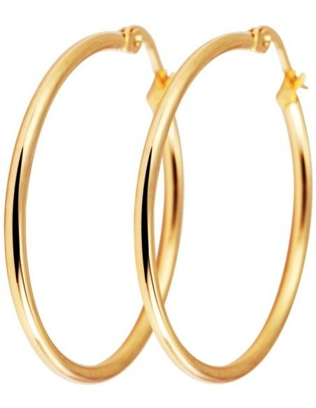 Hoop earrings gold plated 50 ROUND