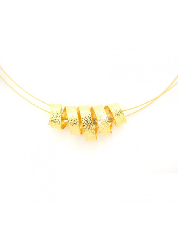 Necklace of bronze gold TRIPS
