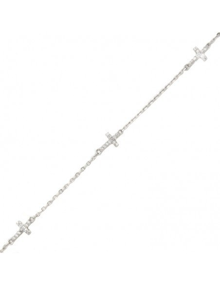 Cross Bracelet of sterling silver TREST