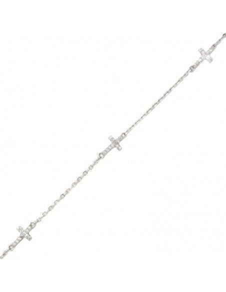 Cross Bracelet of sterling silver TREST