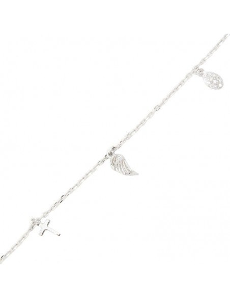 Bracelet of sterling silver WING