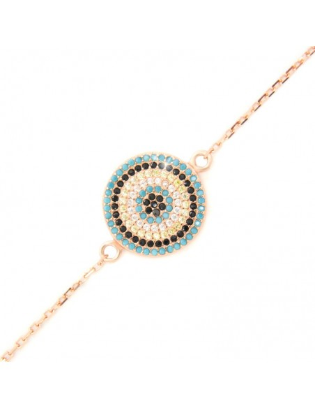 Nazar bracelet of rose gold plated silver 925 TORINO