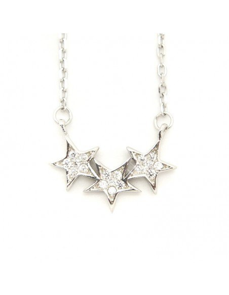 Silver Necklace STARS