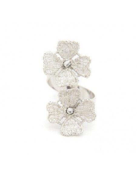 Ring aus Bronze silber FLOWERS