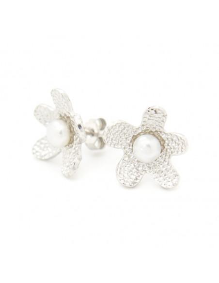 Perlen Ohrstecker aus 925 Silber LOFOI 3