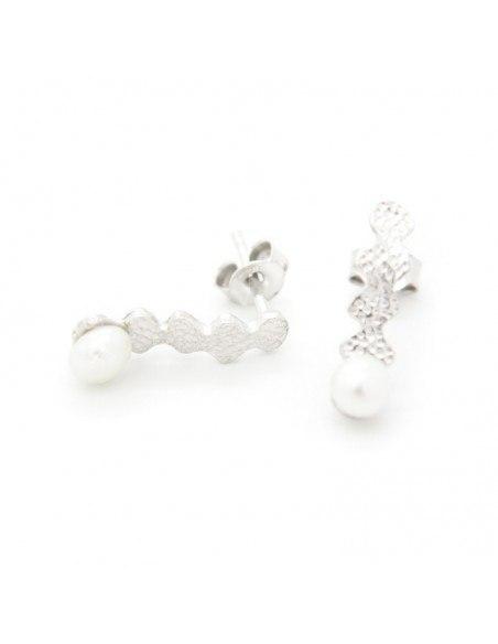 Pearl earrings of sterling silver LOT