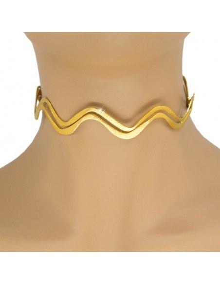 Choker Halskette aus vergoldeter Bronze ELLA H20140647