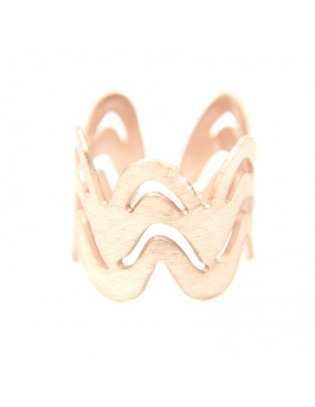 Ancient greek ring from rose gold plated bronze VERO R20140732