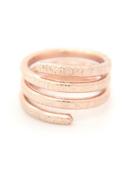 Δαχτυλίδι από μπρούτζο ροζ χρυσό RESE