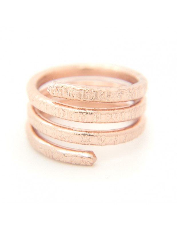 Ring aus Bronze rosegold RESE