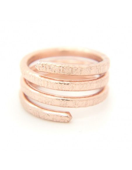 Ring of bronze rose gold RESE