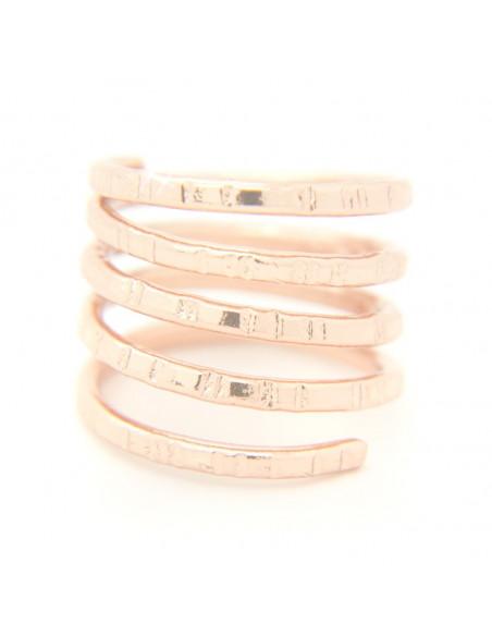 Ring in antikem griechischen Stil aus gehämmerter rosévergoldeter Bronze TERI R20140739