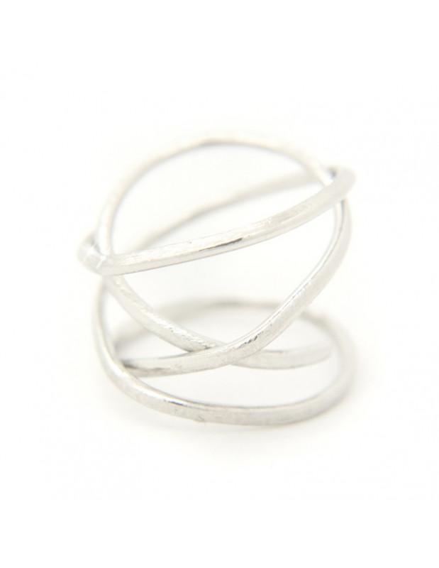 Ring aus Bronze handgefertigt silber OZI