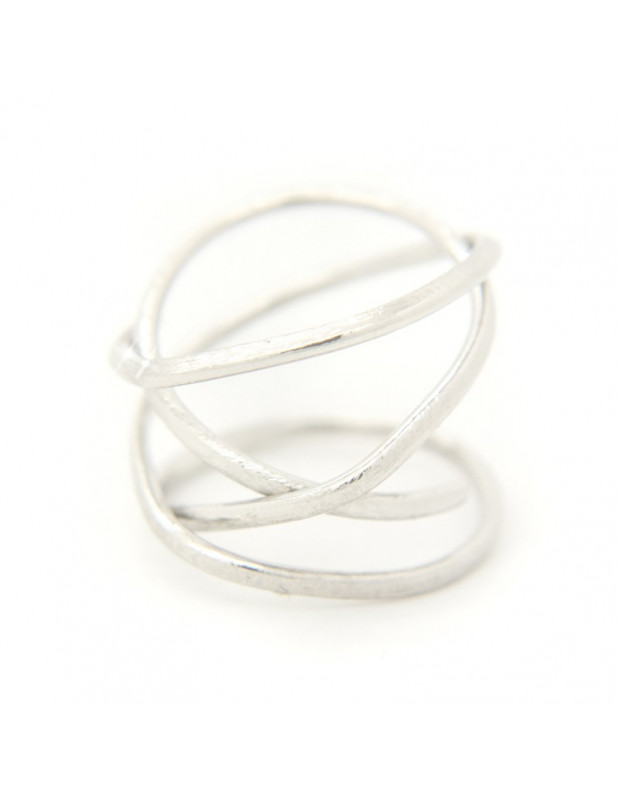 Ring of bronze handmade silver OZI