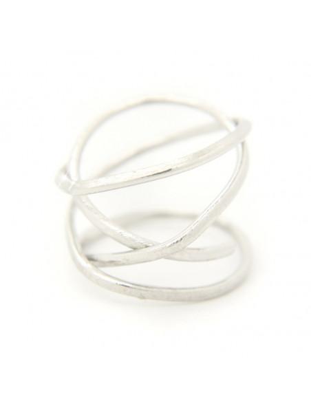 Δαχτυλίδι από μπρούτζο χειροποίητο ασημί OZI
