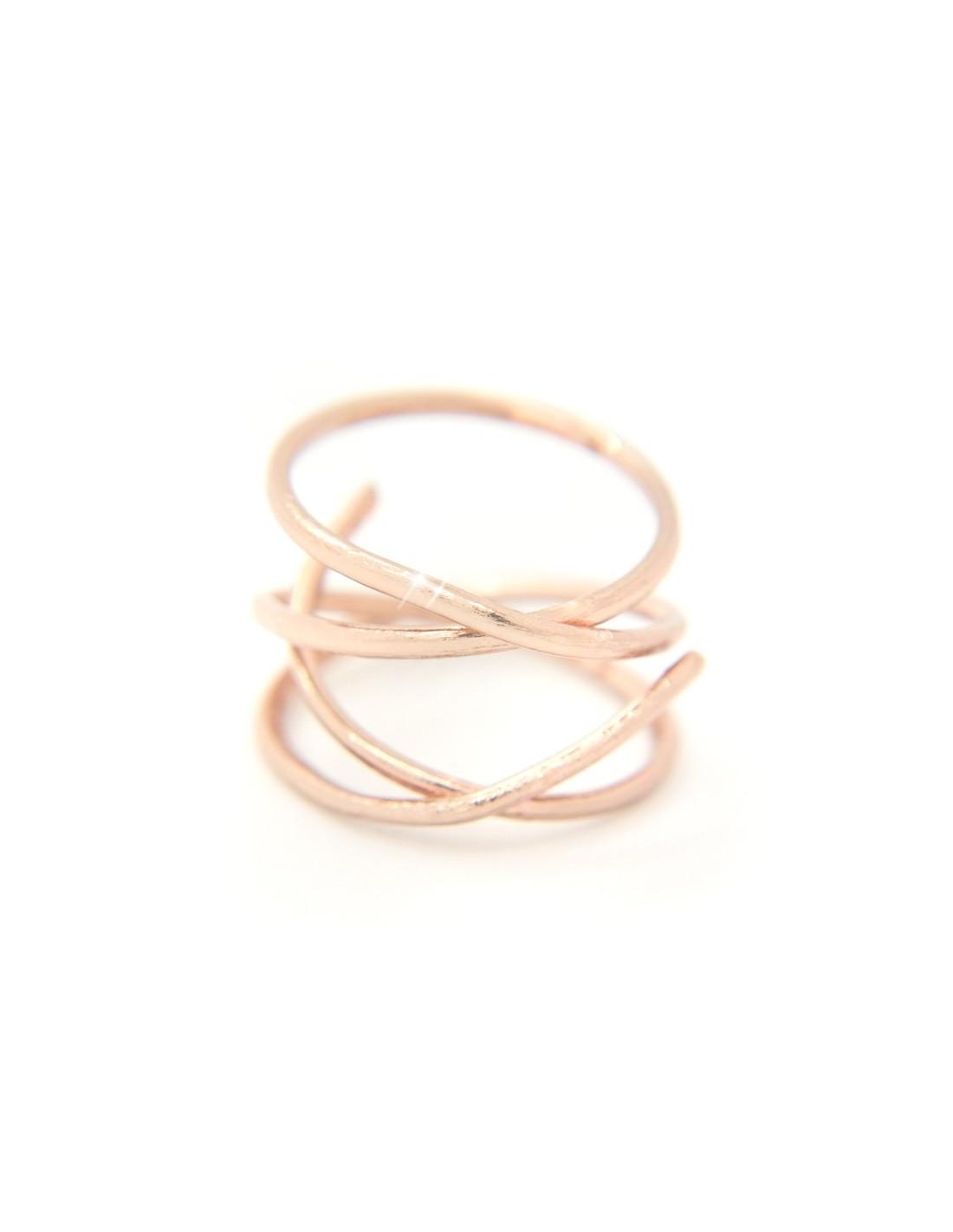 Δαχτυλίδι αρχαιοελληνικό από βουρτσισμένο ροζ επίχρυσο μπρούτζο OZI  R20140735 68e4e3eb9ba