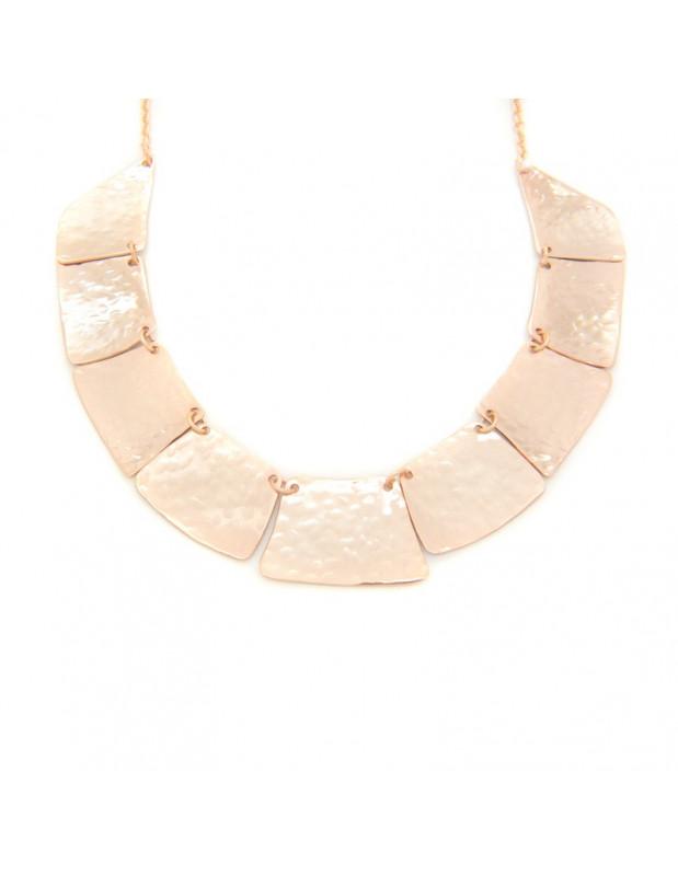 Kragen Halskette aus Bronze handgemacht rosegold LIFE