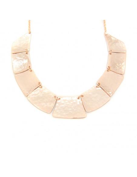 Collar necklace of bronze handmade rose gold LIFE